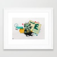 moscow Framed Art Prints featuring Moscow by Hande Unver