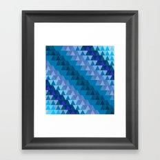 Digital Waves Framed Art Print