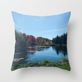 Fall Landscape Photography Print Throw Pillow