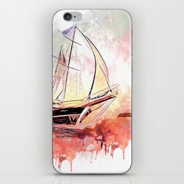 Boat  Red iPhone Skin
