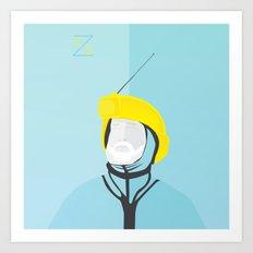 Zissou - The Life Aquatic Art Print
