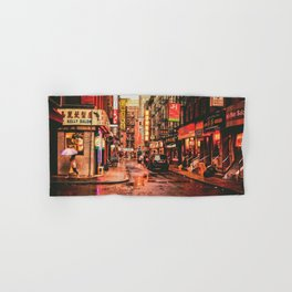 New York City Rain in Chinatown Hand & Bath Towel