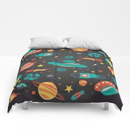 Space space baby Comforters