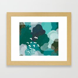 M+M Emerald Forest Bird's Eye View by Friztin Framed Art Print