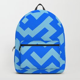 Baby Blue and Brandeis Blue Diagonal Labyrinth Backpack
