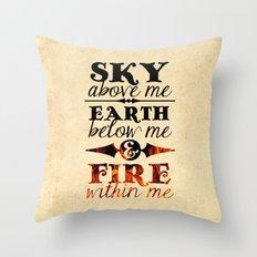 Sky Earth Fire Throw Pillow