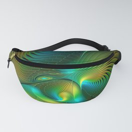 The Protector, Abstract Fractal Art Fanny Pack