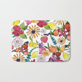 Fruits in the Forest Bath Mat