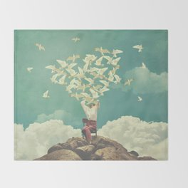 Pigeon Composer Throw Blanket