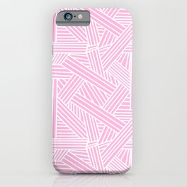 Sketchy Abstract (White & Pink Pattern) iPhone Case