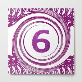 Purple Six Metal Print
