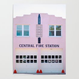 The Pink Fire Station Poster