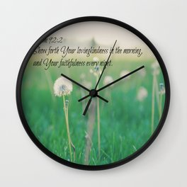 Psalm 92:2 Morning and Evening Wall Clock