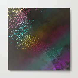 Explosion of Feelings - Abstract Texture Metal Print