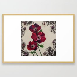 Purple Poppies Framed Art Print