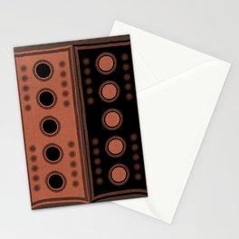 """Tribal Ethnic Rose-Terracotta Stars"" Stationery Cards"