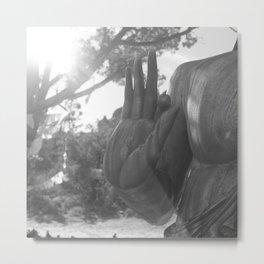 OM Hand Metal Print