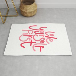 Love Yourself First - Multi Pink  Rug