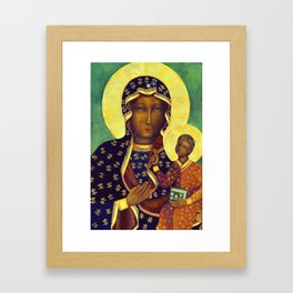 Virgin Mary Our Lady of Czestochowa Poland Black Madonna and Child Religion Christmas Gift Framed Art Print