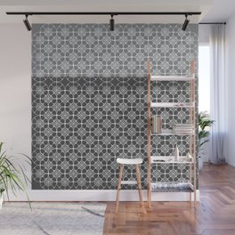 Portuguese Tiles of the Algarve in Grey with Glitch Wall Mural