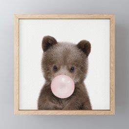 Bubble Gum Bear Cub Framed Mini Art Print