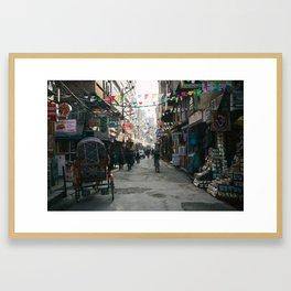 Kathmandu Street Framed Art Print