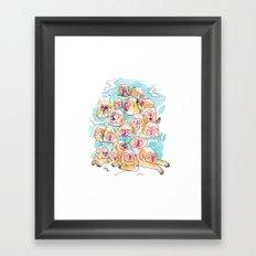 Wild Family Series - Snow Monkey Framed Art Print