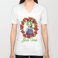 jojo V-neck T-shirts featuring Don't call me Jojo by dggeoffing