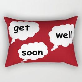 get well soon in red Rectangular Pillow