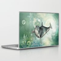 dolphin Laptop & iPad Skins featuring Dolphin by nicky2342