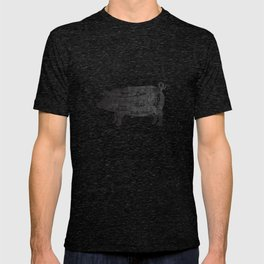PORK BUTCHER DIAGRAM (pig) T-shirt