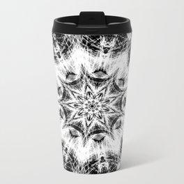Atomic Black Center Swirl Mandala Metal Travel Mug