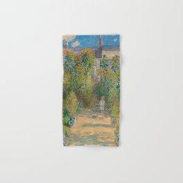 Claude Monet The Artist's Garden at Vétheuil 1880 Painting Hand & Bath Towel