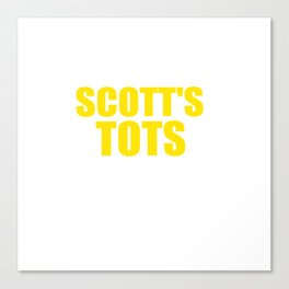 The Office Scott's Tots Light Blue T-Shirt Tee Canvas Print