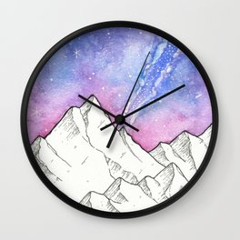 Mountains in the Evening Wall Clock