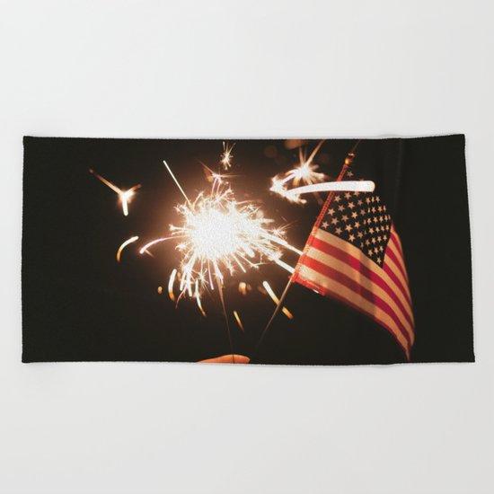 Happy America Beach Towel