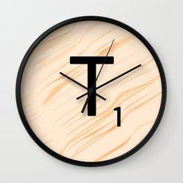 Scrabble Letter T - Large Scrabble Tiles Wall Clock