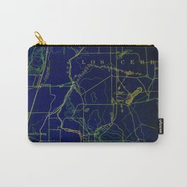 San Pedro Bay old map year 1899, office decoration Carry-All Pouch