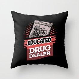 Funny Pharmacist Shirts drugstore medicine gift Throw Pillow