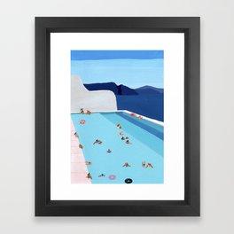 Coastal pool Framed Art Print