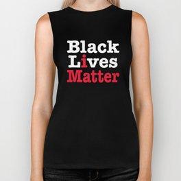 BLACK LIVES MATTER (inverse version) Biker Tank
