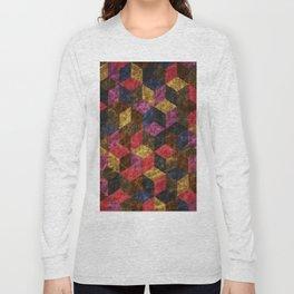 Colorful Isometric Cubes III Long Sleeve T-shirt