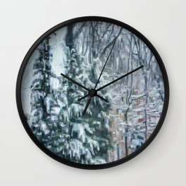 March Snow Wall Clock