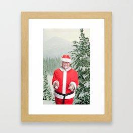 Merry Christmas, Colonel Sanders Framed Art Print