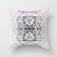 code Throw Pillows featuring Code by Dood_L