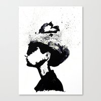 audrey Canvas Prints featuring Audrey by Christie Rainey