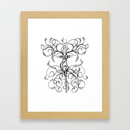 Deer Demask Framed Art Print