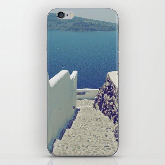 Santorini Stairs III iPhone & iPod Skin