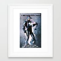 terminator Framed Art Prints featuring Terminator by MartiniWithATwist