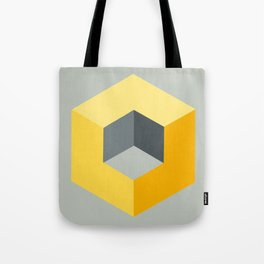 'Iso-Cube Yellow' Tote Bag